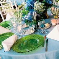 Reception, Flowers & Decor, blue, green, Flowers, Hydrangea