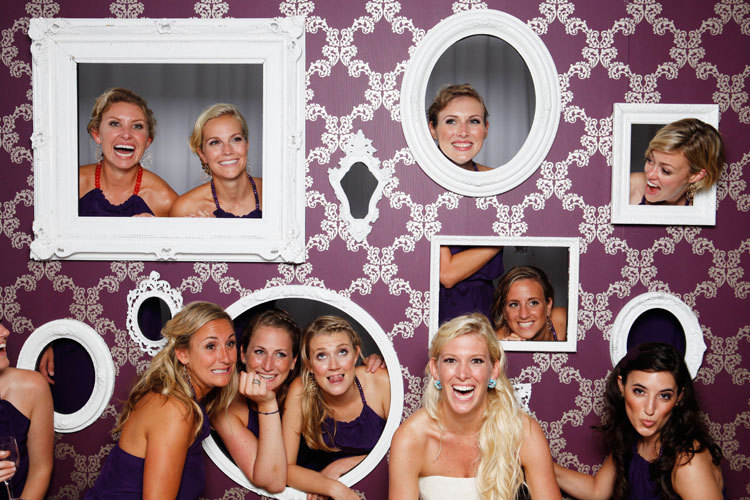 Reception, Flowers & Decor, white, purple, Photobooth