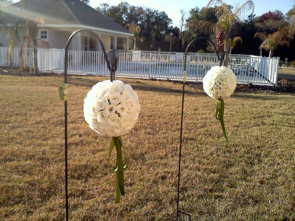 Ceremony, Reception, Flowers & Decor, Bridesmaids, Bridesmaids Dresses, Fashion, white, green, black, Ceremony Flowers, Aisle Decor, Bridesmaid Bouquets, Centerpieces, Flowers, Hanging, Pomander, Aisle, Kissing, Decorations, Balls, Flower Wedding Dresses