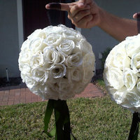 Ceremony, Reception, Flowers & Decor, Bridesmaids, Bridesmaids Dresses, Fashion, white, green, black, Ceremony Flowers, Bridesmaid Bouquets, Flowers, Flower Wedding Dresses