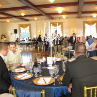 Reception, Flowers & Decor, blue, Navy, Pintucks