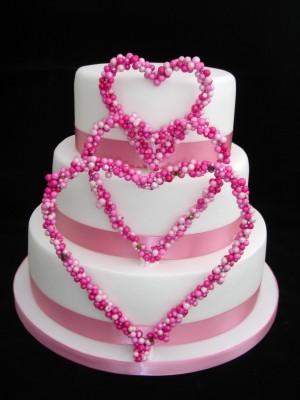 Cakes, white, pink, cake