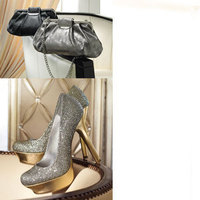 Shoes, Fashion, silver, gold