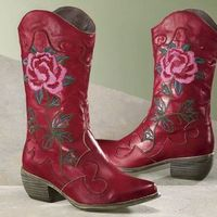 Shoes, Fashion, pink, red, Cowboy, Boots, Cowgirl