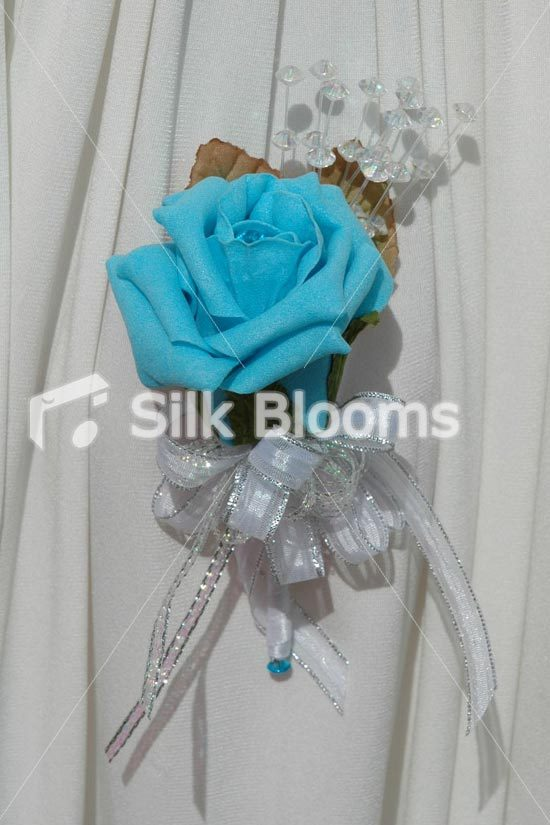 Flowers & Decor, blue, silver, Flowers