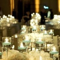 white, silver, Candles, Roses, Centerpiece