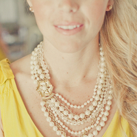 yellow, Bridesmaid, Pearls, Bhldn, Erin alan, Stella dot