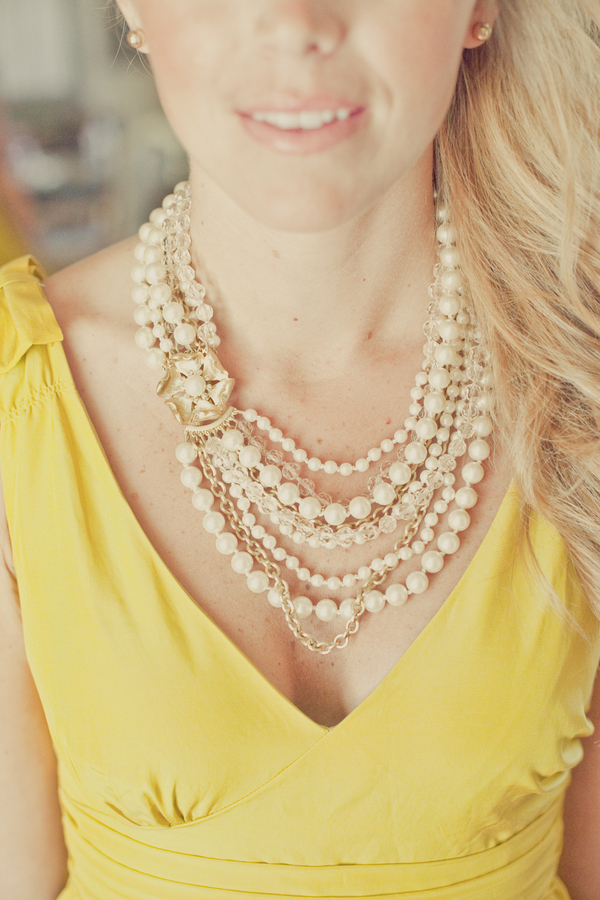 yellow, Bridesmaid, Pearls, Bhldn, Erin alan, Stella dot