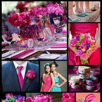pink, purple