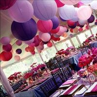Reception, Flowers & Decor, pink, purple, Flowers