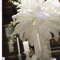 Reception, Flowers & Decor, white