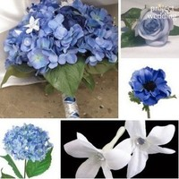 Flowers & Decor, white, blue, Flowers, Inspiration board