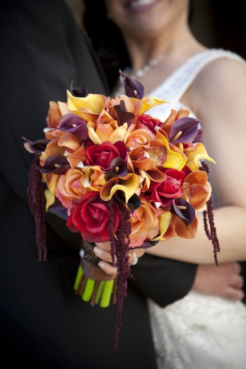 Flowers & Decor, orange, purple, brown, Flowers