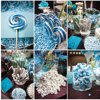 blue, Candy, Buffet, Inspiration board