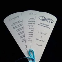 Ceremony, Reception, Flowers & Decor, Stationery, Invitations, Custom, Program, Fan, Personalized, Petal