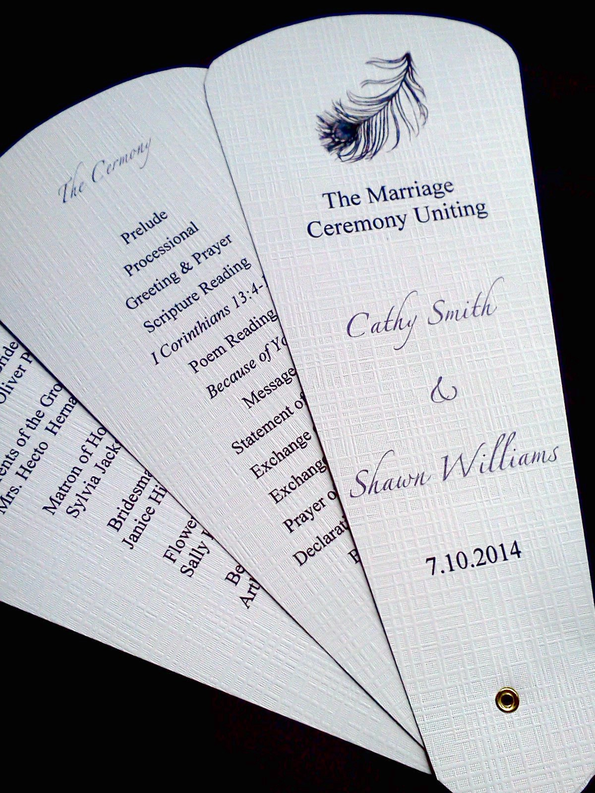 Ceremony, Flowers & Decor, Stationery, Invitations, Ceremony Programs, Programs, Wedding, Custom, Fans, Petal
