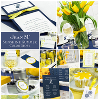 Ceremony, Reception, Flowers & Decor, yellow, blue, Inspiration board