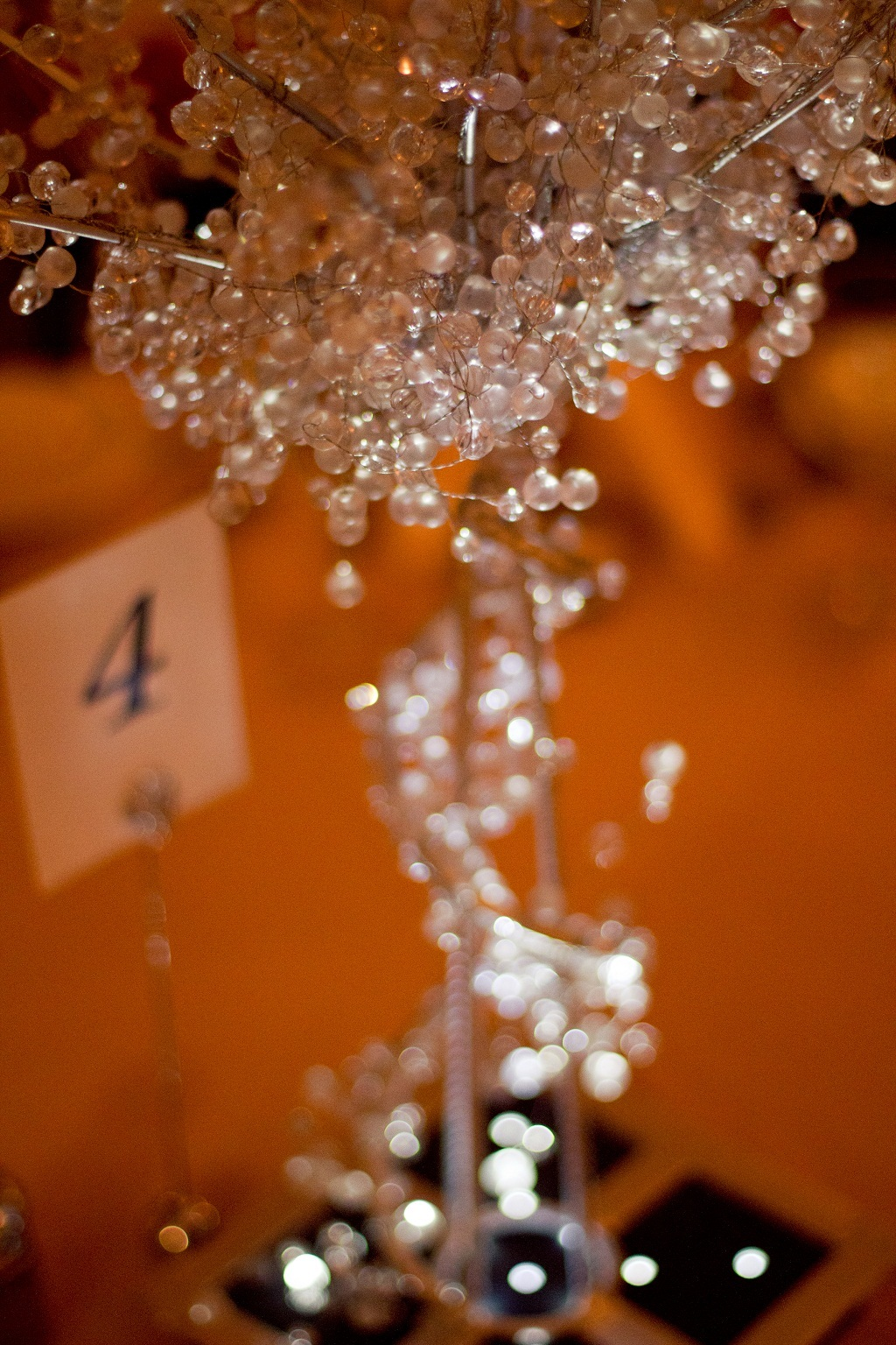 Reception, Flowers & Decor, white, silver, Centerpieces, Tree, Crystal, Lit