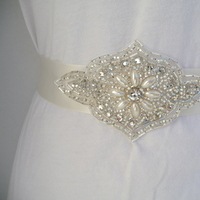 Beauty, Jewelry, Bridesmaids, Bridesmaids Dresses, Wedding Dresses, Fashion, white, silver, dress, Headbands, Wedding, Bridal, Sash, Crystal, Rhinestone, Headband