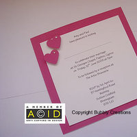 Stationery, white, pink, silver, Invitations