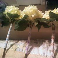 Flowers & Decor, white, purple, blue, Flowers