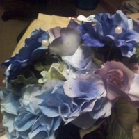 Flowers & Decor, white, purple, blue, Flowers