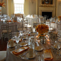 Reception, Flowers & Decor, orange, silver