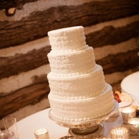 Reception, Flowers & Decor, Cakes, silver, cake, Stand, Glass, Votives, Mercury