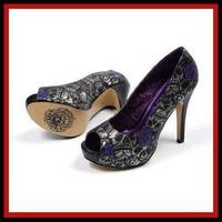 Ceremony, Reception, Flowers & Decor, Shoes, Fashion, purple, black