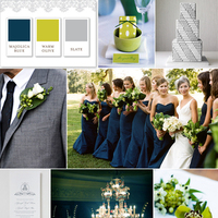 white, blue, green, silver, Inspiration board