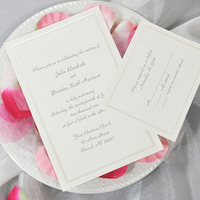 Stationery, ivory, invitation, Invitations, Wedding, Custom, Personalized, Package, Deal, Traditonal