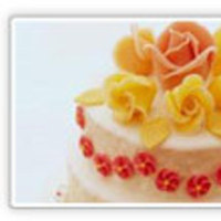 Cakes, white, yellow, orange, red, cake
