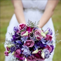 Flowers & Decor, white, purple, silver, Flowers