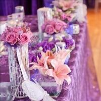 Flowers & Decor, white, purple, silver, Flowers