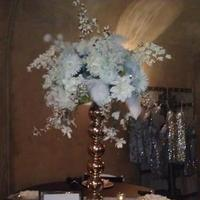 Reception, Flowers & Decor, white, green, black, Flowers