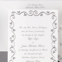 silver, Wedding, Inspiration board, Invites, Hearts