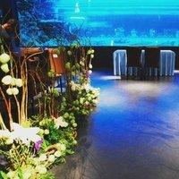 Ceremony, Reception, Flowers & Decor, blue, black