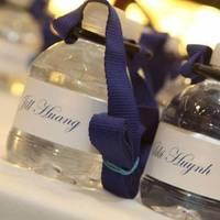 Favors & Gifts, blue, Favors, Water, Bottle, Laynard