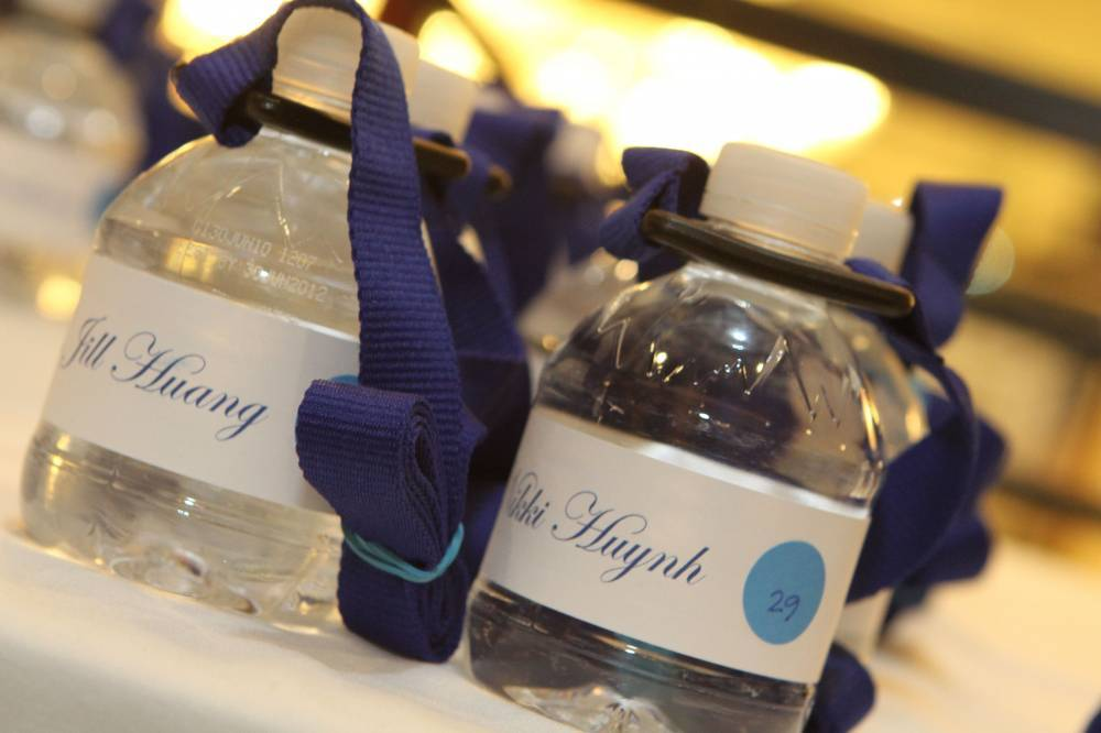 Favors & Gifts, blue, Favors, Water, Bottle, Laynard