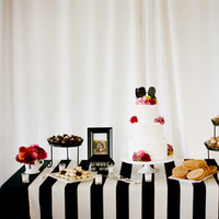 Reception, Flowers & Decor, Cakes, white, pink, black, gold, cake, Flowers