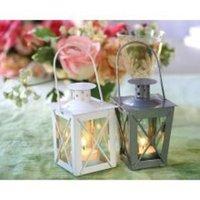 Favors & Gifts, white, silver, Favors, Mini, Lantern