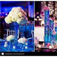 Reception, Flowers & Decor, purple, blue, Flowers