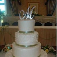 Cakes, white, green, cake