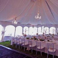 white, silver, Tent
