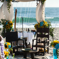 Ceremony, Flowers & Decor, blue, Beach, Tables & Seating, Beach Wedding Flowers & Decor, Wedding, Chairs, African