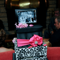 Reception, Flowers & Decor, pink, black, Box, Card