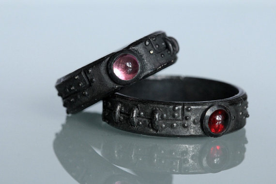 Jewelry, red, purple, black, Rings, Wedding