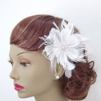 Beauty, Flowers & Decor, Feathers, Accessories, Flower, Bridal, Couture, Me, Fascinator, Feather, Fascinate