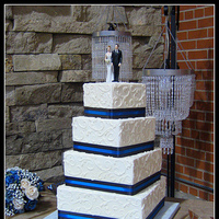 Cakes, white, blue, black, cake