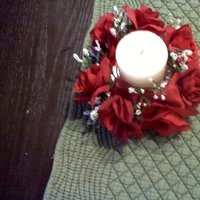 Reception, Flowers & Decor, white, red